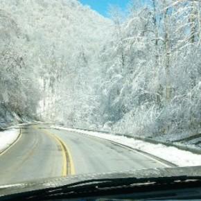 ขับรถในฤดูหนาวที่อเมริกา