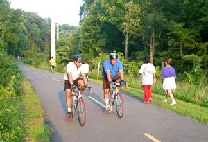 ทางจักรยานในอเมริกา W&OD trail